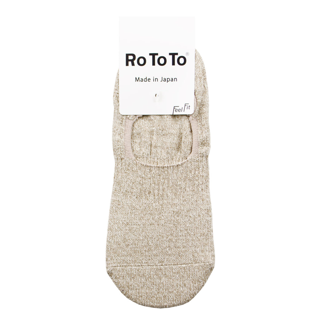 RoToTo - Silk Cotton Foot Cover Invisible Socks - Mix Beige