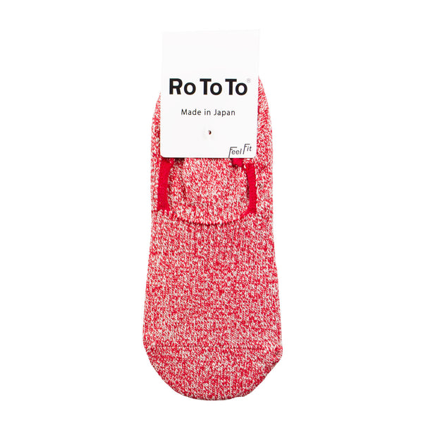 RoToTo - Silk Cotton Foot Cover Invisible Socks - Mix Red