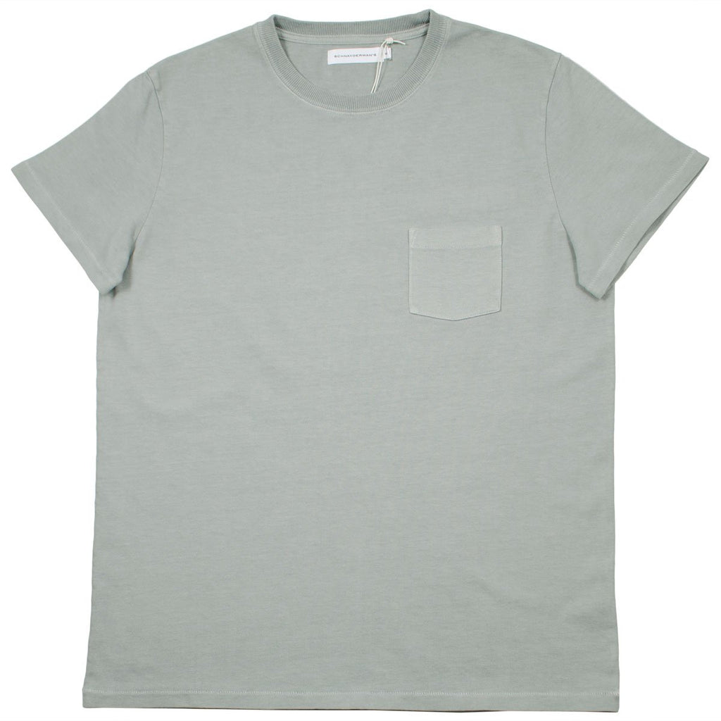 Schnayderman's - Garment Dyed Pocket T-shirt - Slate Green