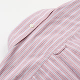 Schnayderman's - Leisure Shirt Barre Faded Stripe One - Red