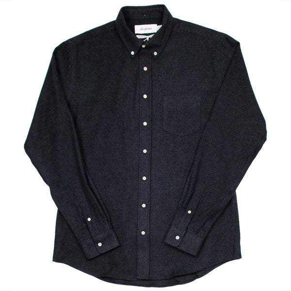 Schnayderman's - Leisure Shirt Flannel Xsmall Check – Black/Dark Grey