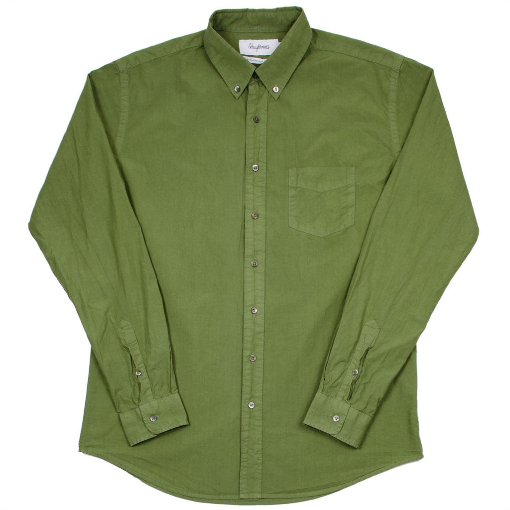 Schnayderman's - Leisure Shirt Poplin One - Military Green
