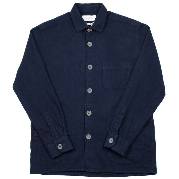 Schnayderman's - Linen Cotton Overshirt - Navy