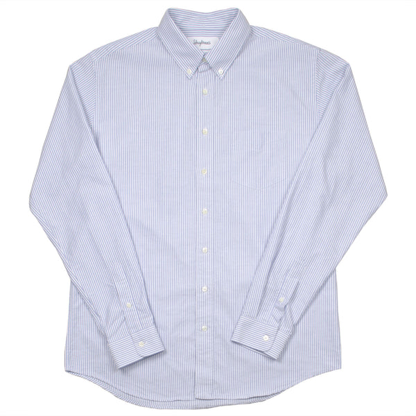 Schnayderman's - Oxford Shirt Regular Stripe - Blue & White
