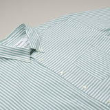 Schnayderman's - Pencil Stripe Shirt - Green & Off White