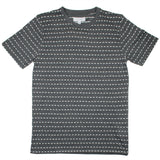 Soulland - Fernell T-shirt with Embroidered Dots - Grey/White