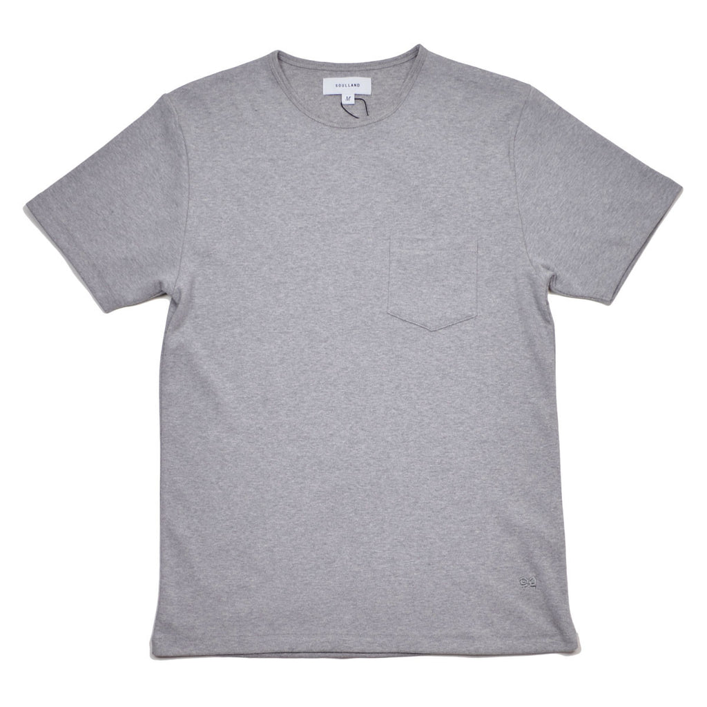 Soulland - Forever Pocket T-shirt - Grey Melange