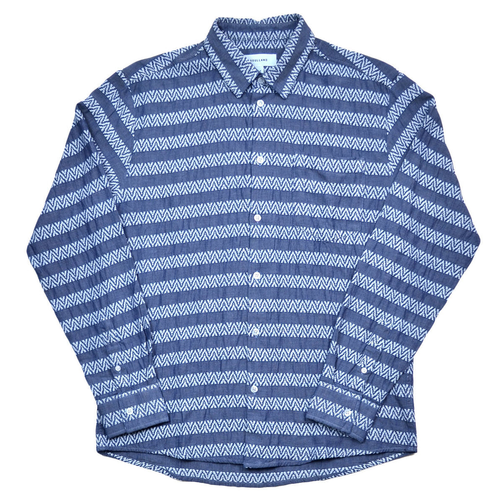 Soulland - Goff Indigo Shirt - Light Blue