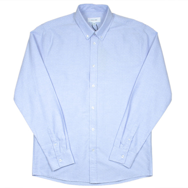Soulland - Goldsmith Oxford Shirt - Light Blue with Dots
