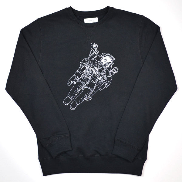Soulland - Jensen Sweatshirt with Embroidery - Black
