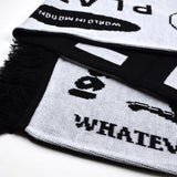 Soulland - Muf Knitted Football Scarf - Black / White
