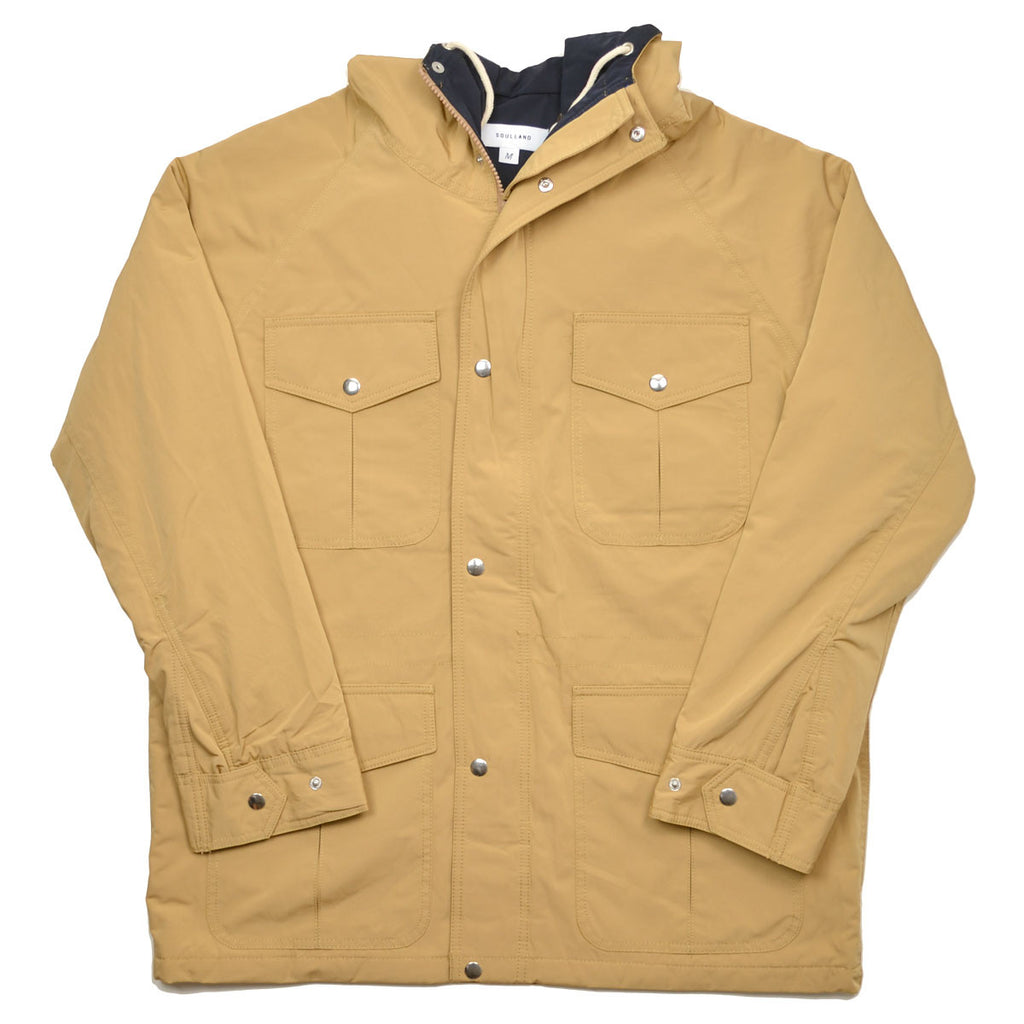 Soulland - Reid Parka Coat with Hood and Teflon Coating - Beige