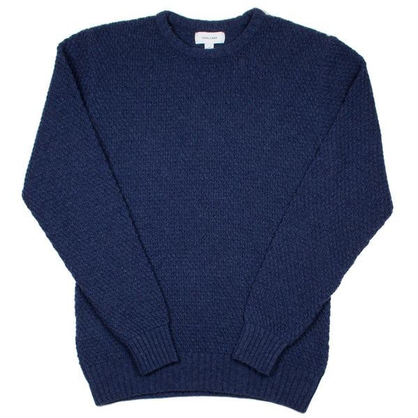Soulland - Ricketts Honeycomb Sweater - Navy