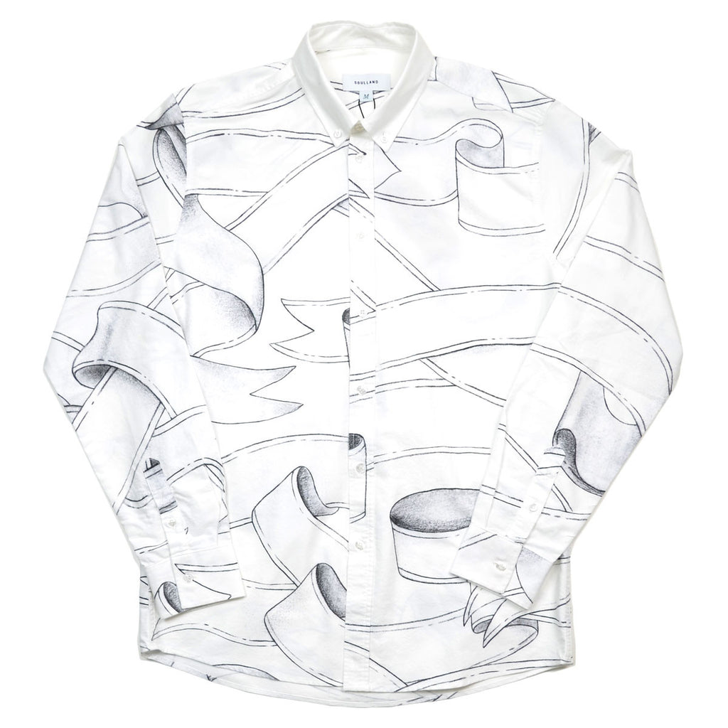 Soulland - Rusty Shirt with Allover Print - White / Black