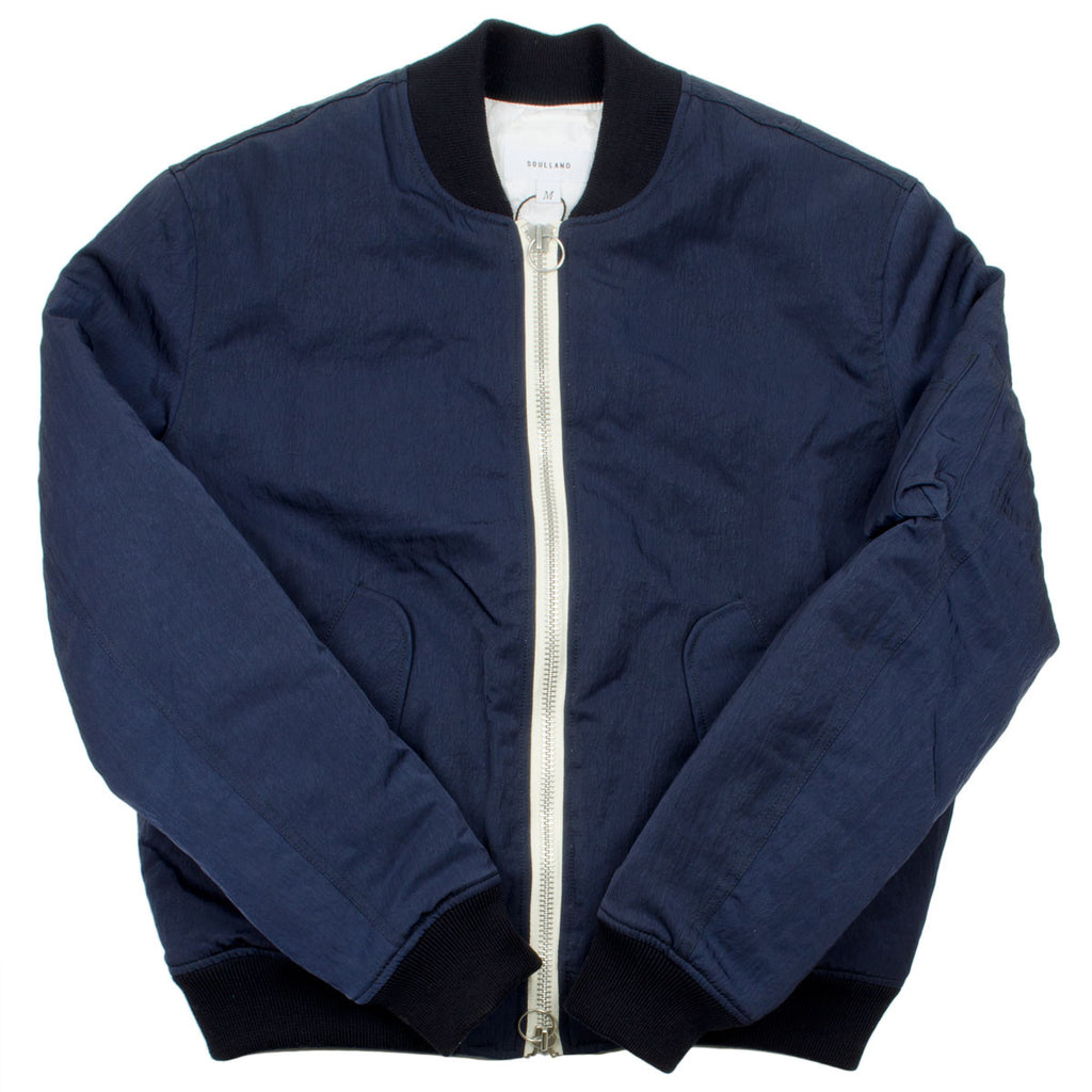 Soulland - Thomasson Bomber Jacket - Navy