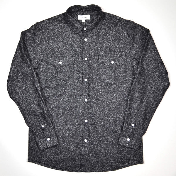 Soulland - Tom Western Shirt with Slubs - Black