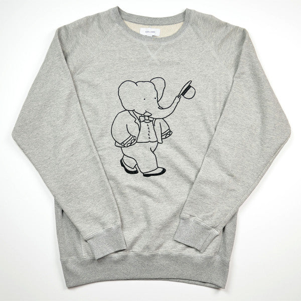 Soulland – Babar Sweat Special – Grey Melange / Black