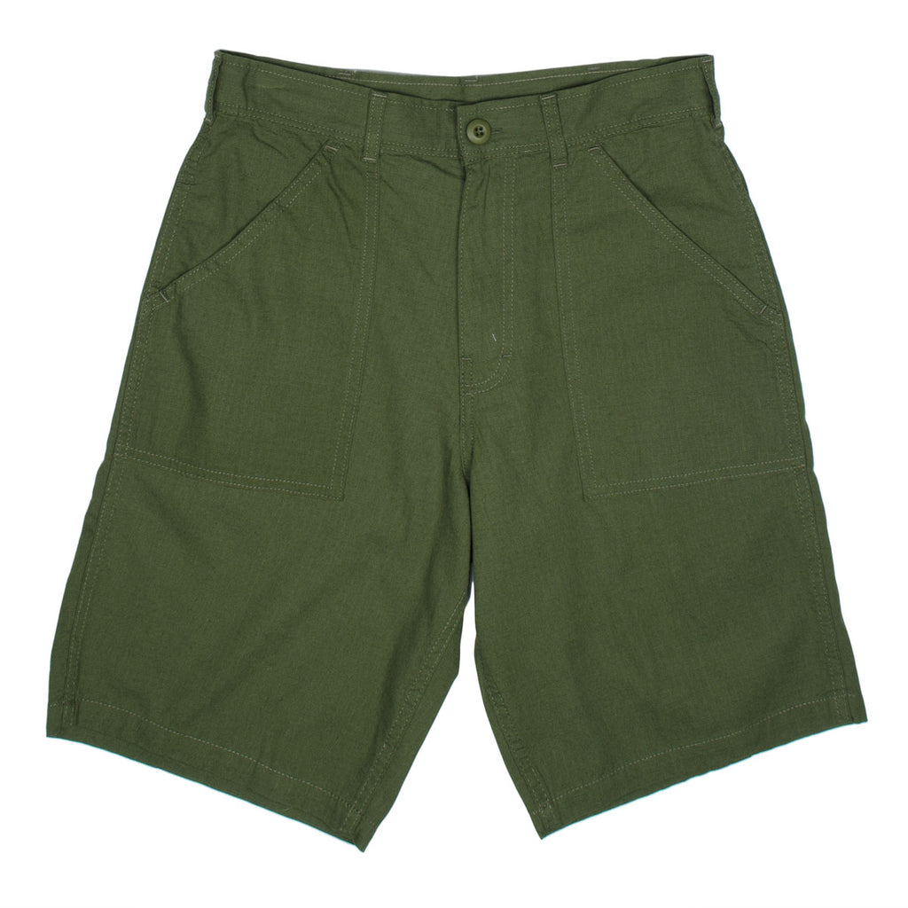 Stan Ray - Fatigue Short - Stonewashed Olive Ripstop