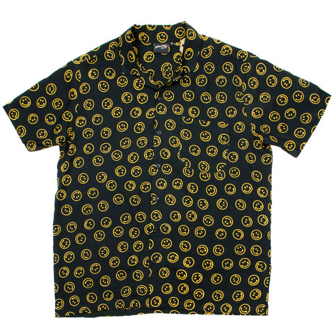 Stan Ray - Short-Sleeved Shirt - Smiley Batik Black