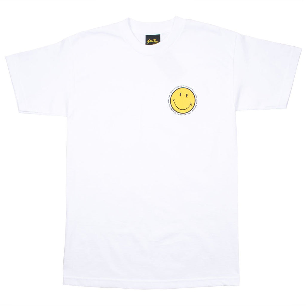 Stan Ray - Smiley T-shirt - Left White