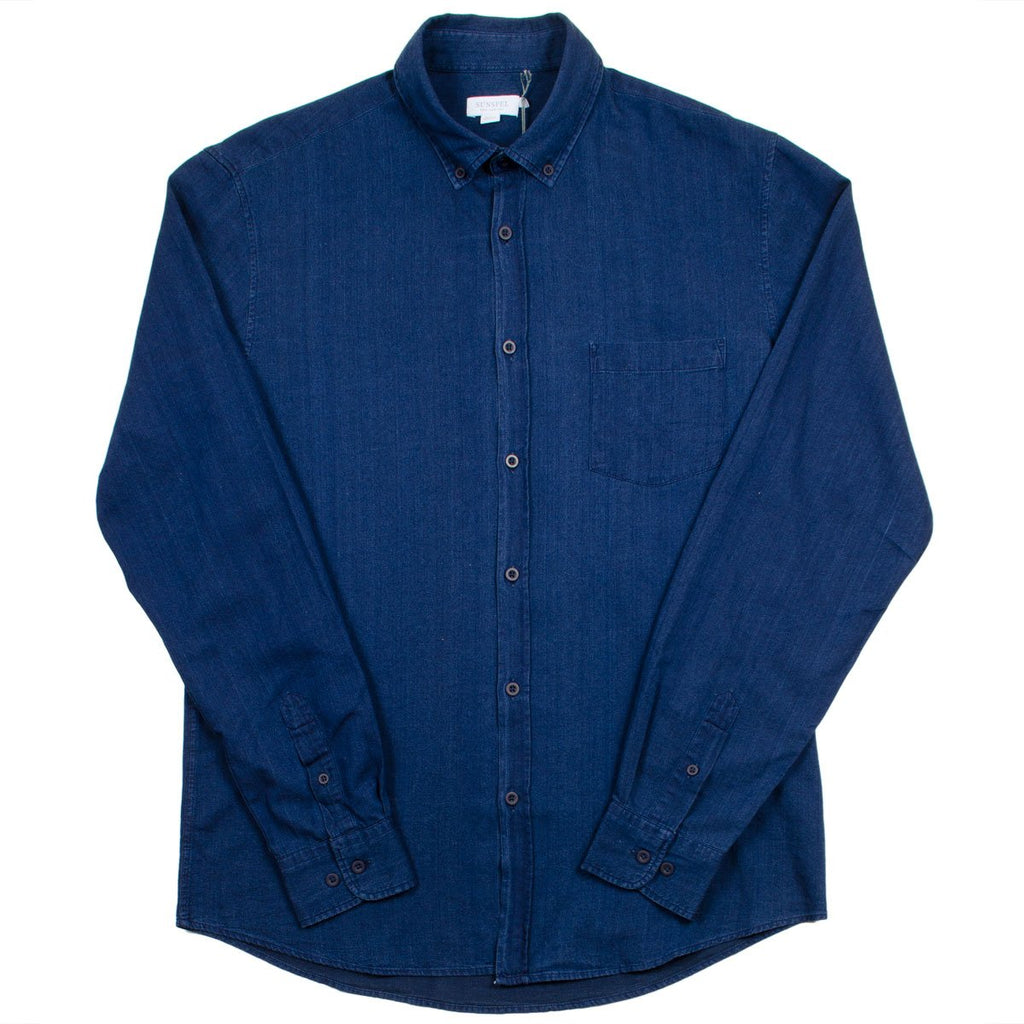 Sunspel - Button-down Shirt - Indigo