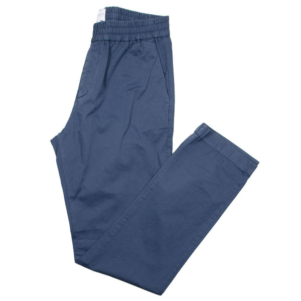 Sunspel - Drawstring Trouser - Blue Slate