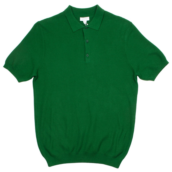 Sunspel - Fine Texture Polo - Basil