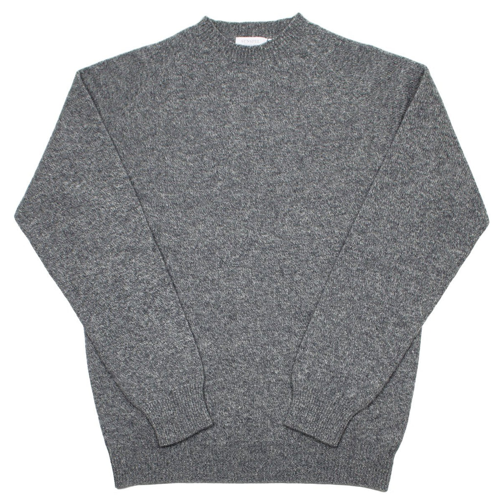 Sunspel - Lambswool Crewn Neck Sweater - Mid Grey