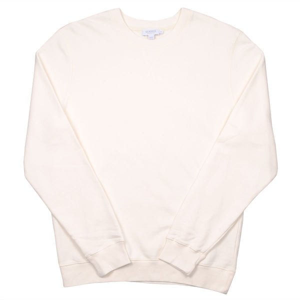 Sunspel - Loopback Sweatshirt - Archive White