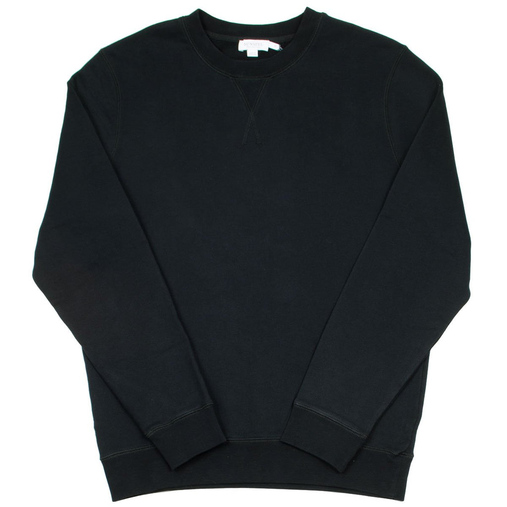 Sunspel - Loopback Sweatshirt - Black