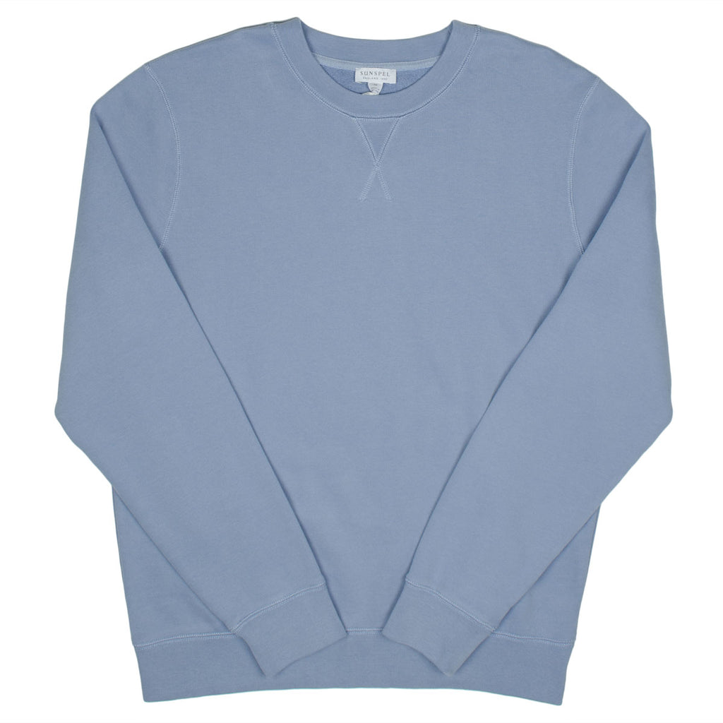 Sunspel - Loopback Sweatshirt - Blue Sky