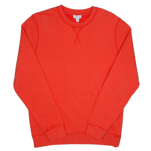 Sunspel - Loopback Sweatshirt - Booth Red