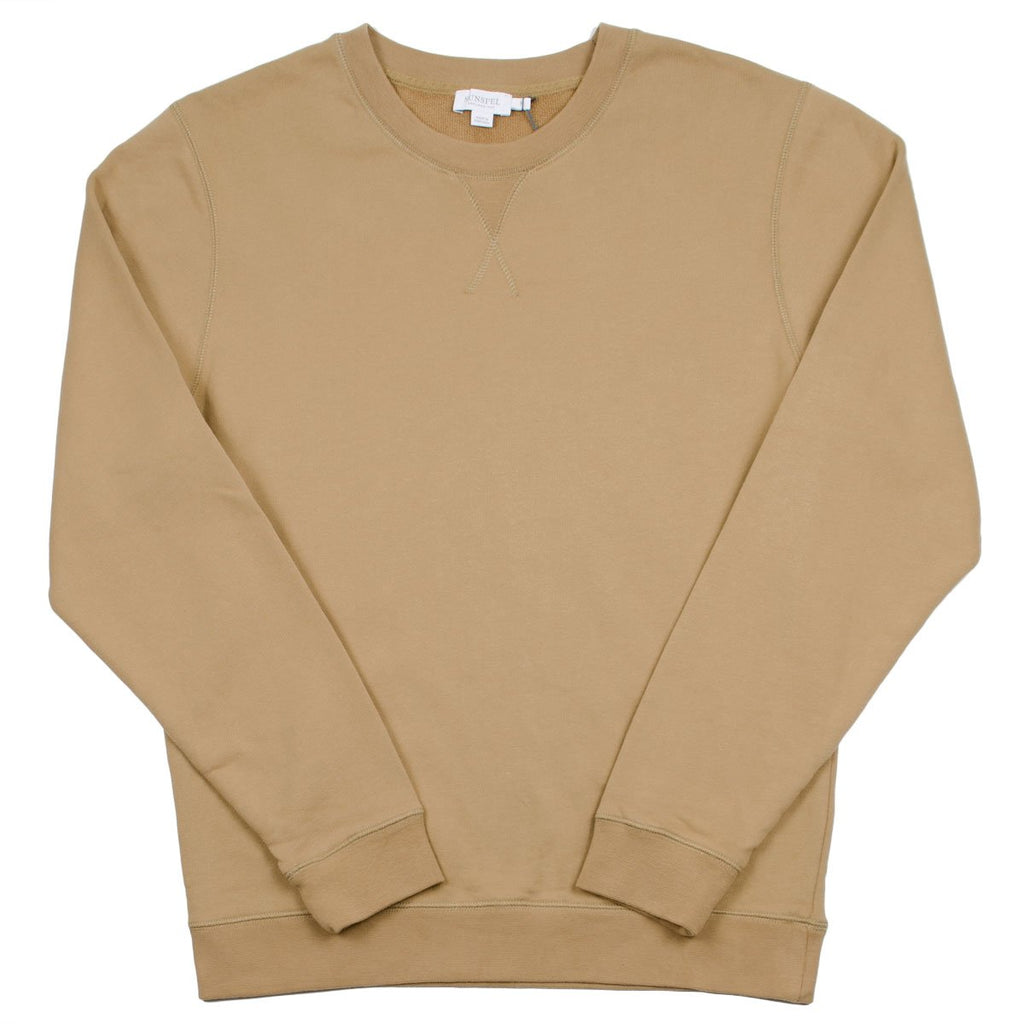Sunspel - Loopback Sweatshirt - Camel