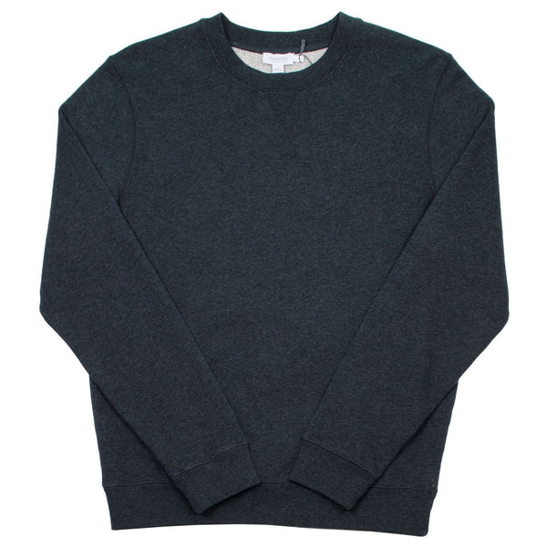 Sunspel - Loopback Sweatshirt - Charcoal Melange