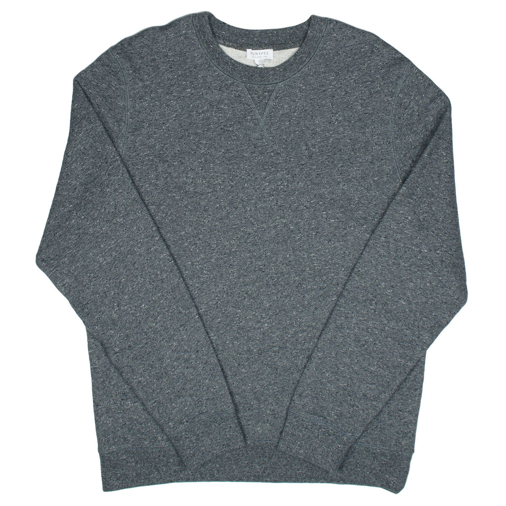 Sunspel - Loopback Sweatshirt - Charcoal Mouline