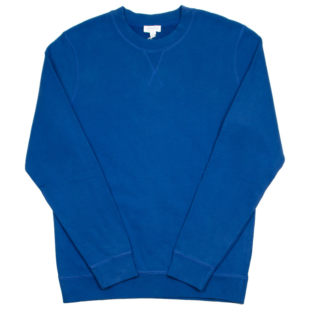 Sunspel - Loopback Sweatshirt - Cobalt Blue
