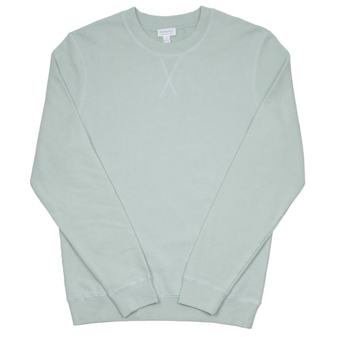 Sunspel - Loopback Sweatshirt - Dusky Green