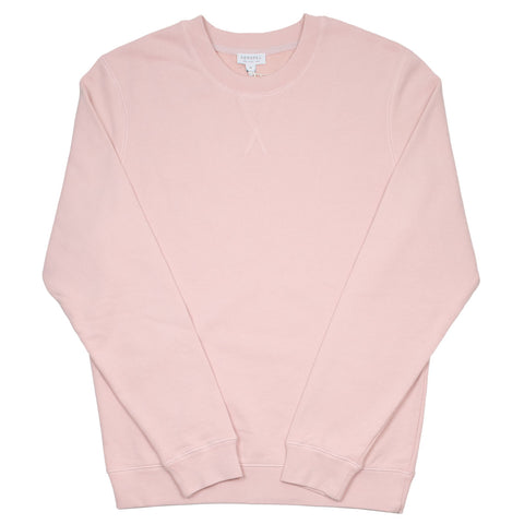 Sunspel - Loopback Sweatshirt - Dusty Pink