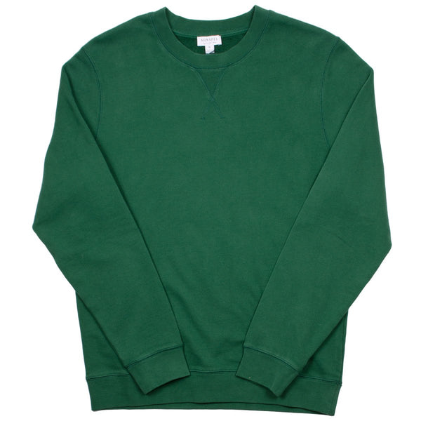 Sunspel - Loopback Sweatshirt - Kale