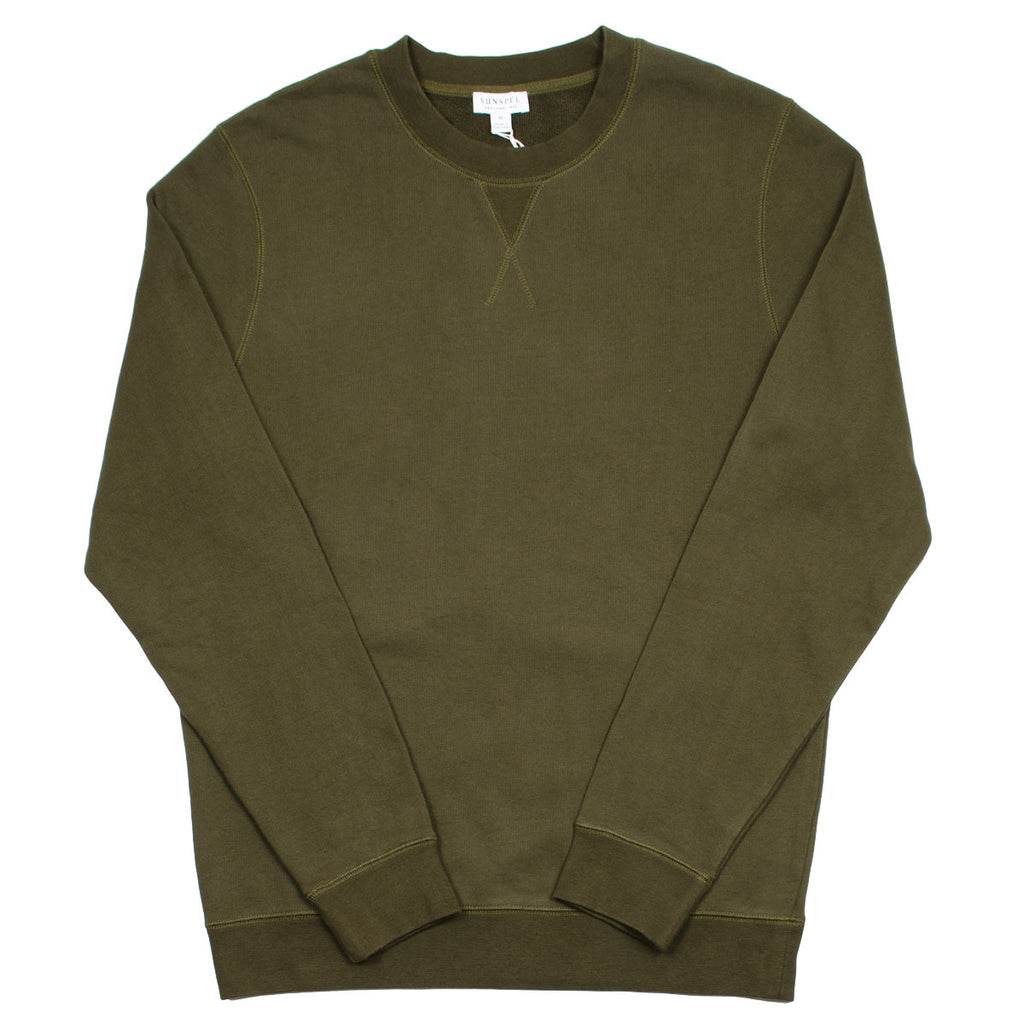 Sunspel - Loopback Sweatshirt - Military Green