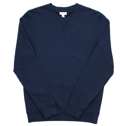 Sunspel - Loopback Sweatshirt - Navy