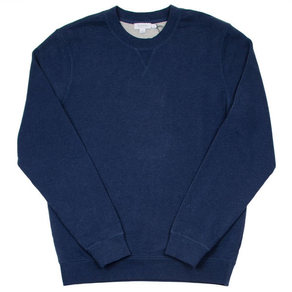 Sunspel - Loopback Sweatshirt - Navy Melange