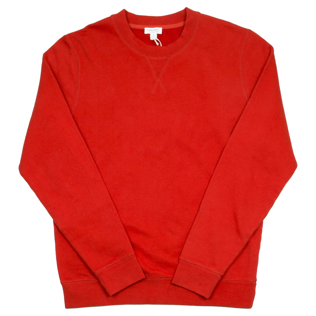 Sunspel - Loopback Sweatshirt - Persimmon Red