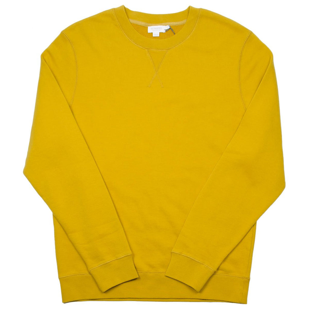 Sunspel - Loopback Sweatshirt - Tumeric (Yellow)