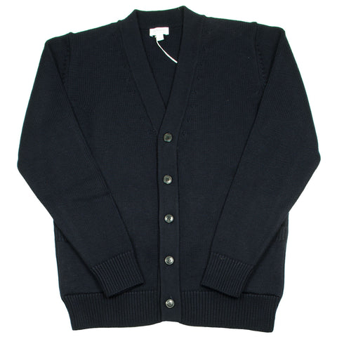 Sunspel - Merino Long Sleeve Cardigan - Navy