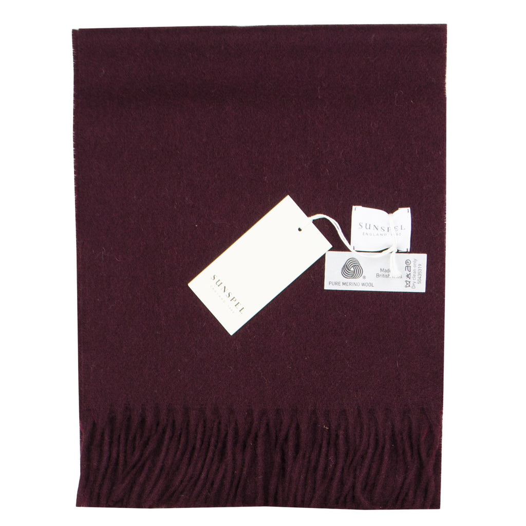 Sunspel - Scarf - Maroon Mouline