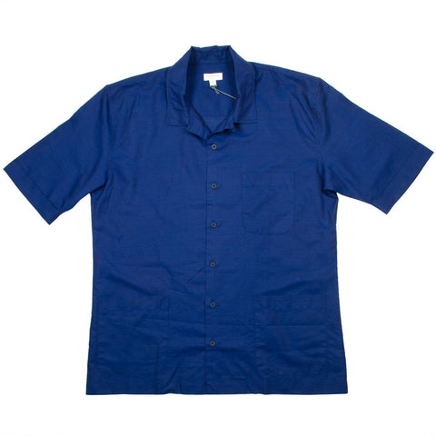 Sunspel - Short Sleeve Leisure Shirt - Dark Indigo