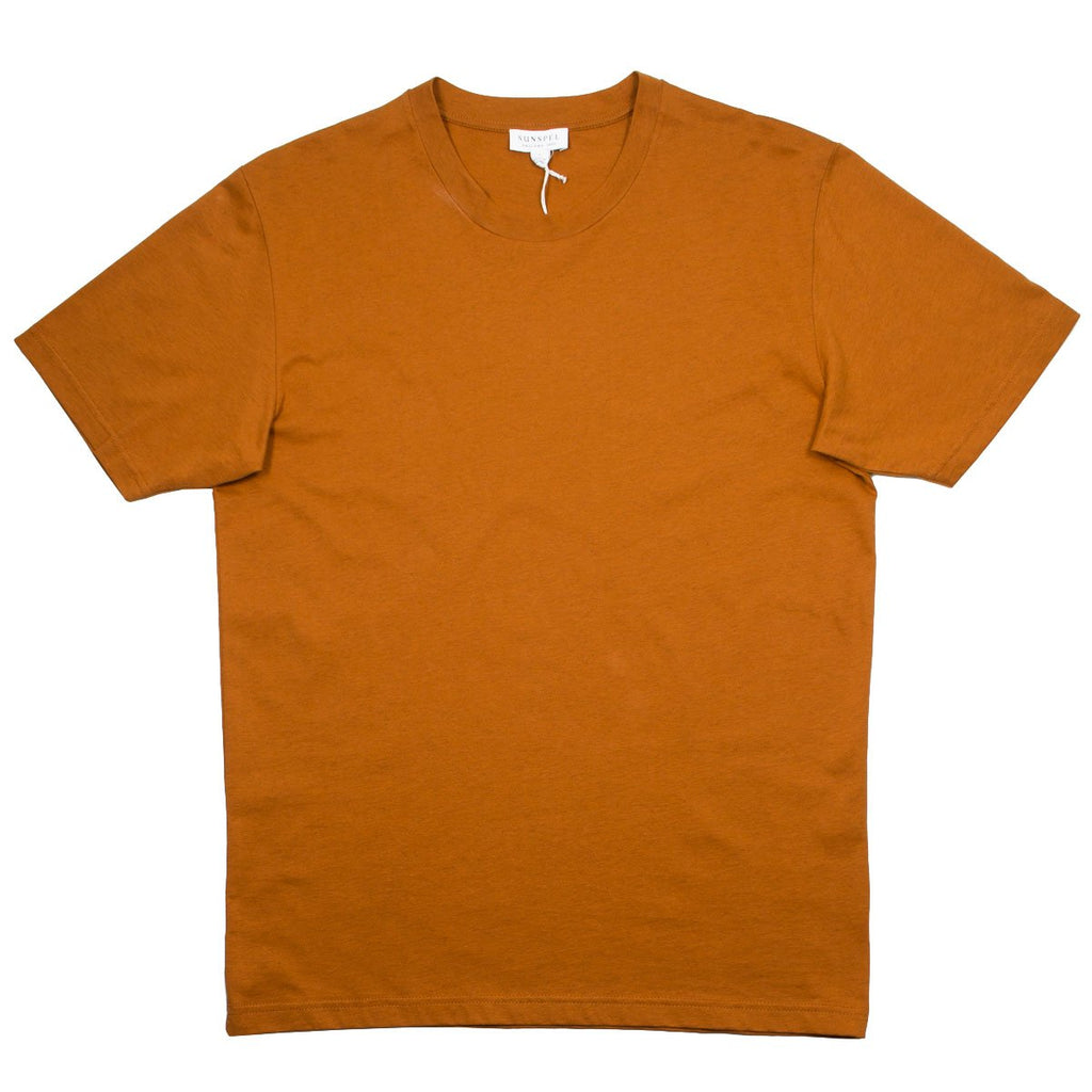 Sunspel - Short Sleeve Riviera Crew Neck T-shirt - Burnt Sienna Mel.