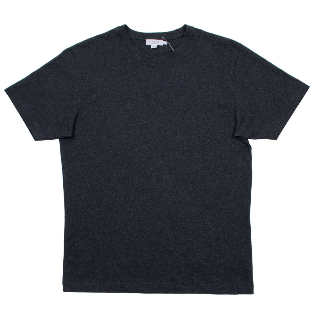 Sunspel - Short Sleeve Riviera Crew Neck T-shirt - Charcoal
