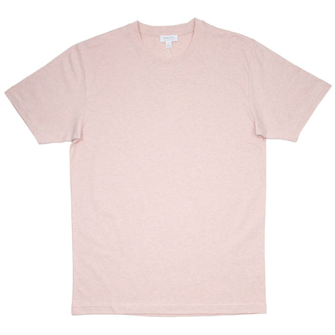 Sunspel - Short Sleeve Riviera Crew Neck T-shirt - Dusty Pink
